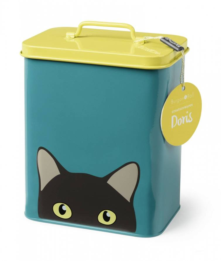 Cat treats Storage Tin - Doris £14.95 annabeljames.co.uk rev